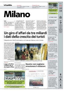 la Repubblica Milano - 2 Ottobre 2018