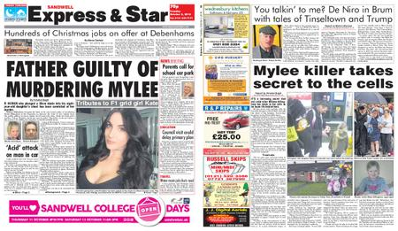 Express and Star Sandwell Edition – October 02, 2018