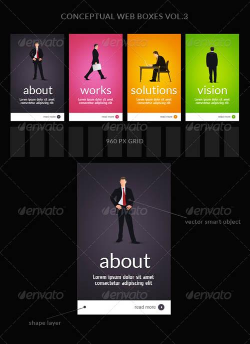 GraphicRiver Web Box or Banner Templates 3