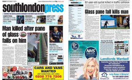 South London Press – October 05, 2018