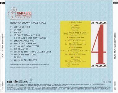 Deborah Brown - Jazz 4 Jazz (1988) {2015 Japan Timeless Jazz Master Collection Complete Series CDSOL-6327}