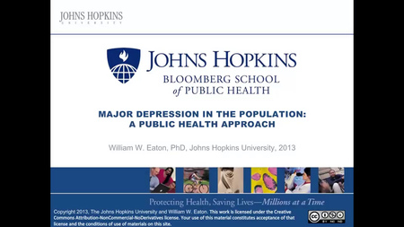 Coursera - Major Depression in the Population A Public Health Approach