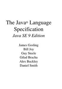The Java Language Specification, Java SE 9 Edition