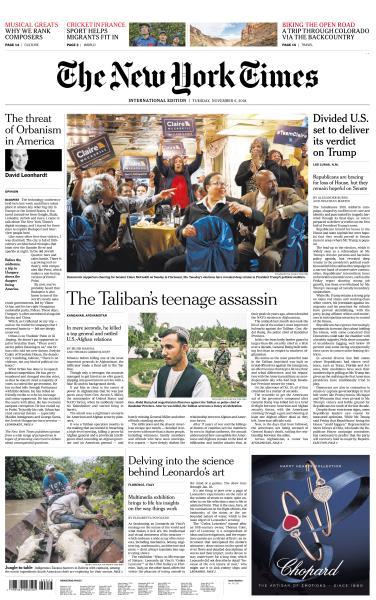 International New York Times - 6 November 2018