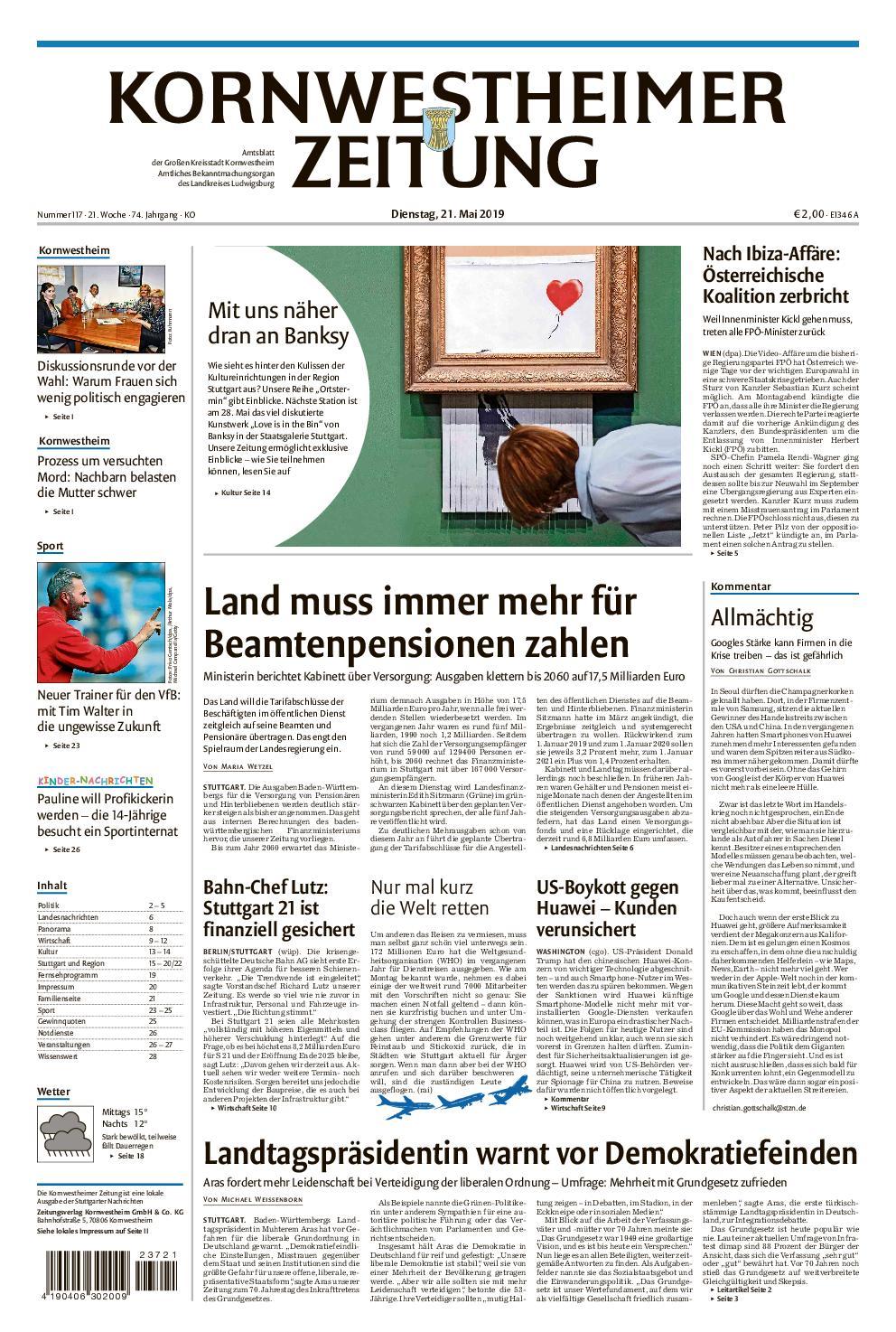 Kornwestheimer Zeitung - 21. Mai 2019
