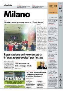 la Repubblica Milano - 16 Giugno 2018