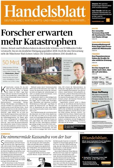 Handelsblatt vom 30.12.2009