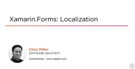 Xamarin.Forms: Localization