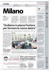 la Repubblica Milano - 11 Dicembre 2017