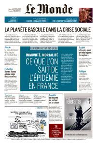 Le Monde du Mercredi 22 Avril 2020
