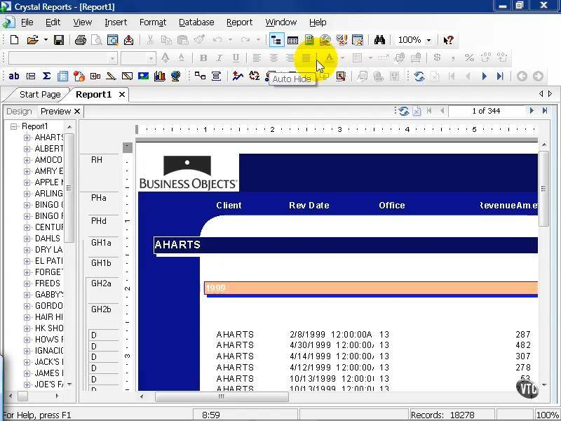 VTC - Crystal Reports XI: Beginner Course (Repost)
