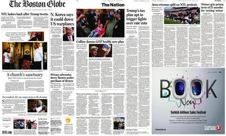 The Boston Globe – September 26, 2017