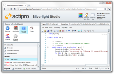 Actipro Silverlight Studio v11.1.0113