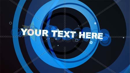Revostock Blue Rings With Text - After Effects Project