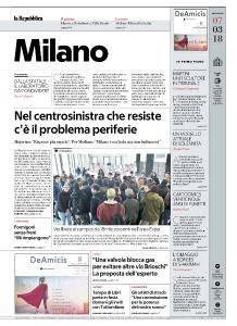 la Repubblica Milano - 7 Marzo 2018