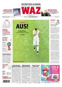 WAZ Westdeutsche Allgemeine Zeitung Oberhausen-Sterkrade - 28. Juni 2018