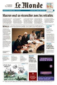 Le Monde du Jeudi 20 Septembre 2018