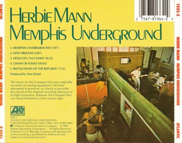 Herbie Mann - Memphis Underground (1969) {Atlantic 1522-2}