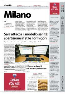 la Repubblica Milano - 23 Febbraio 2019