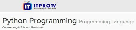 ITPRO.TV - Python Programming: Programming Language