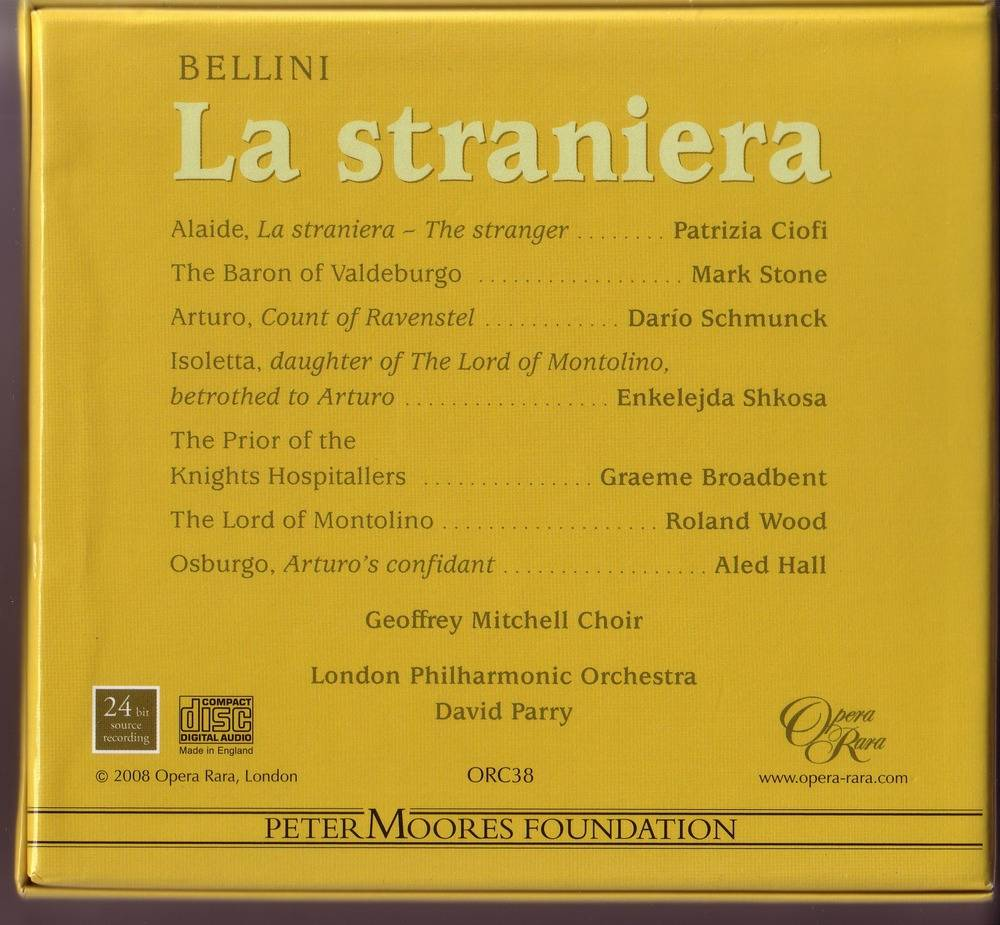 London Philharmonic Orchestra, David Parry - Vincenzo Bellini: La Straniera (2008) (Repost)