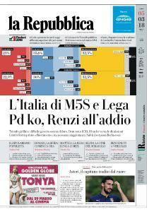 la Repubblica - 5 Marzo 2018