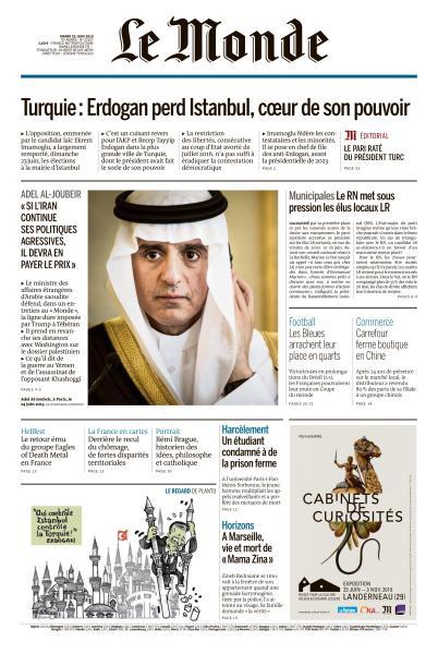 Le Monde du Mardi 25 Juin 2019