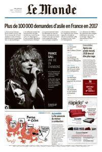Le Monde du Mardi 9 Janvier 2018