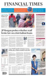 Financial Times Europe - September 9, 2020