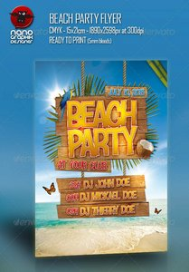 GraphicRiver Beach Party Flyer