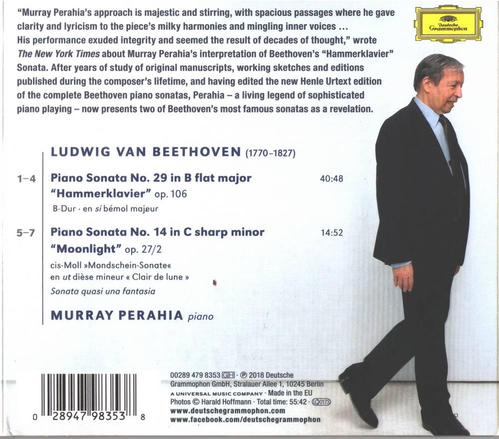 Murray Perahia - Beethoven: Piano sonatas (2018)
