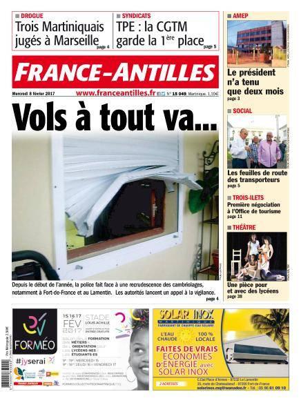 France-Antilles Martinique du Mercredi 8 Février 2017