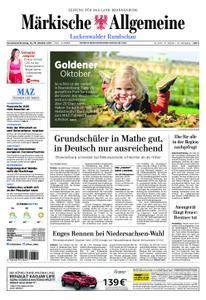 Märkische Allgemeine Luckenwalder Rundschau - 14. Oktober 2017