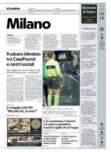 la Repubblica Milano - 24 Febbraio 2018