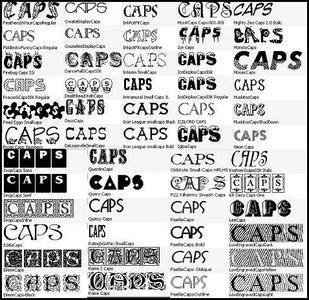 366 Caps Fonts