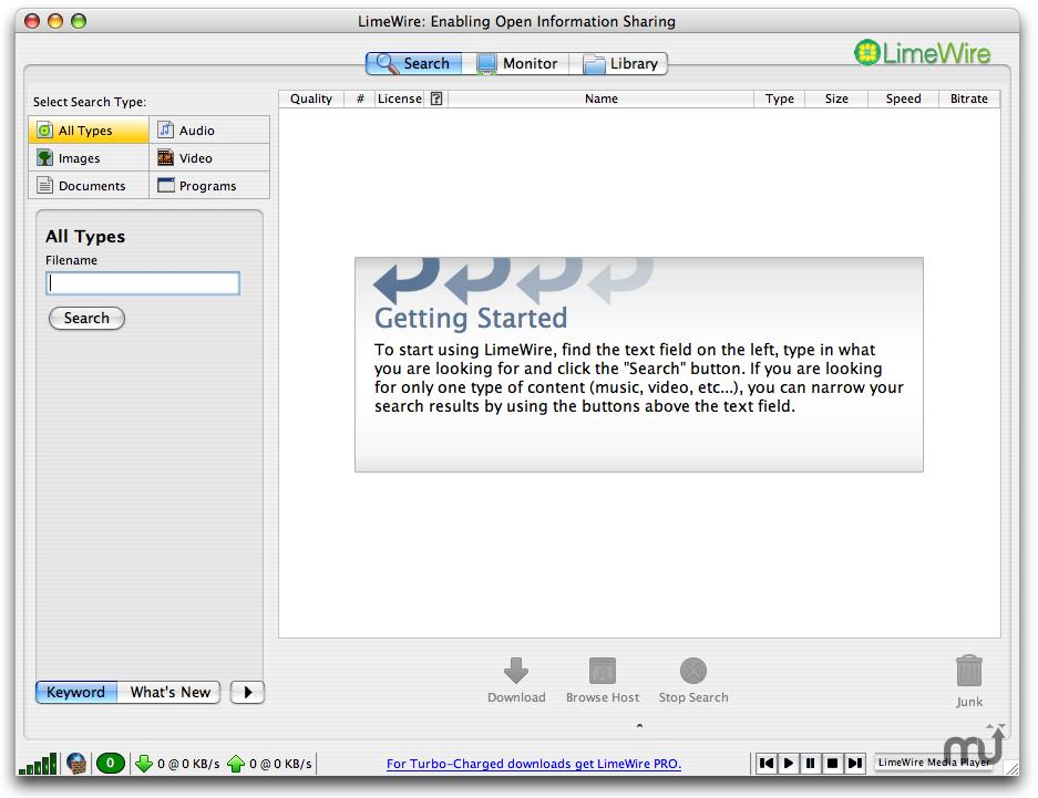 LimeWire Pro ver. 4.12.3