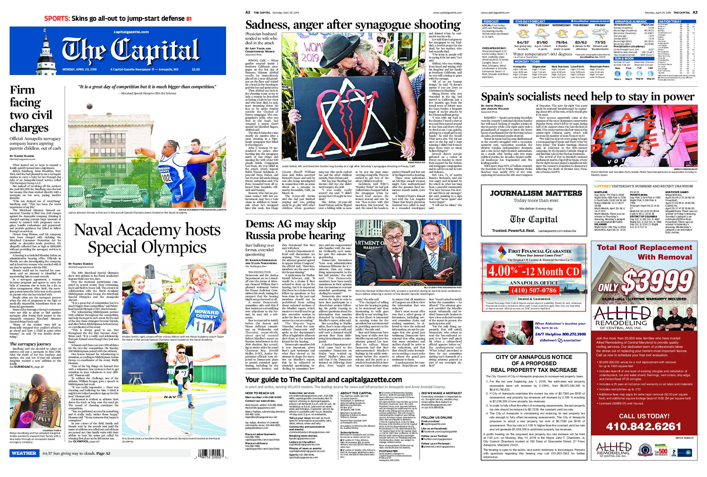 The Capital – April 29, 2019 / AvaxHome
