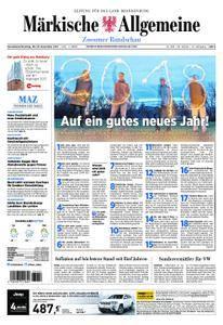 Märkische Allgemeine Zossener Rundschau - 30. Dezember 2017