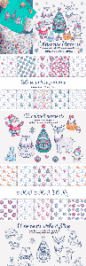 Creativefabrica - Christmas Patterns and Clip Arts 604652