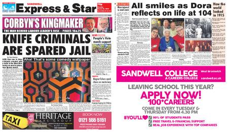 Express and Star Sandwell Edition – March 25, 2019