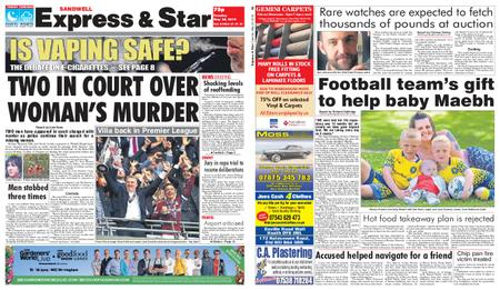 Express and Star Sandwell Edition – May 28, 2019