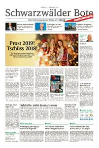 Schwarzwälder Bote St. Georgen, Triberg, Furtwangen - 31. Dezember 2018