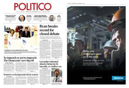 Politico – November 08, 2017