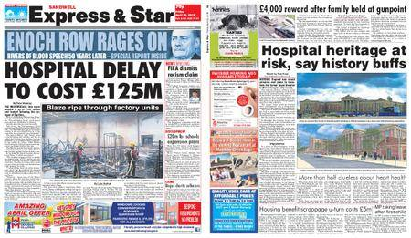Express and Star Sandwell Edition – April 20, 2018