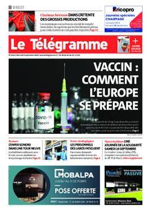 Le Télégramme Brest – 09 septembre 2020