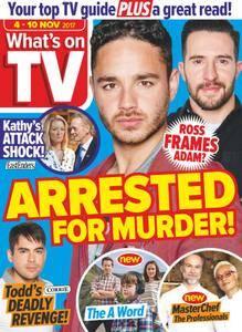 What's on TV - 04 November 2017