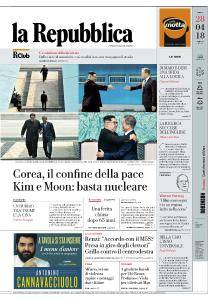 la Repubblica - 28 Aprile 2018