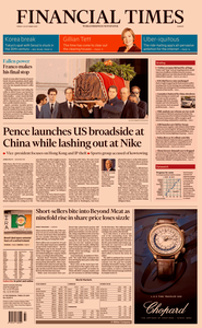 Financial Times Europe – 25 October 2019