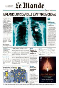 Le Monde du Mardi 27 Novembre 2018