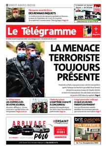 Le Télégramme Brest Abers Iroise – 26 septembre 2020